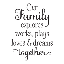 our family explores together wall decal