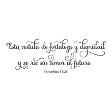 Fortaleza Y Dignidad Spanish Bible Verse Wall Quotes™ Decal great for any home