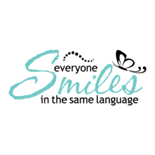 every one smiles wall decal