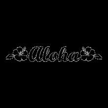 aloha Hawaiian decal