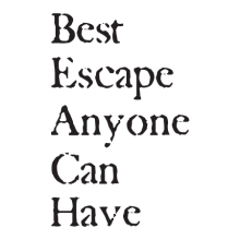 The Beach Is The Best Escape Wall Quotes™ Decal perfect for any home