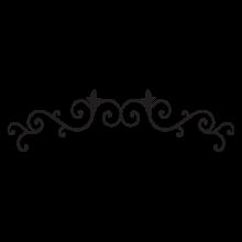 corinna scroll headboard wall decal