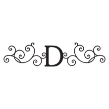 davis monogram headboard wall decal
