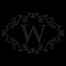 windsor monogram headboard wall decal