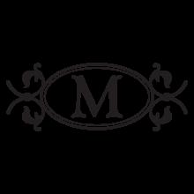 murphy monogram headboard wall decal