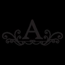 abby monogram headboard wall decal