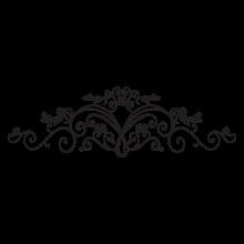 sabrina floral headboards wall decal
