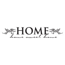 home sweet home wall quotes decal