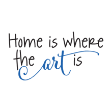 home is where the art is wall decal