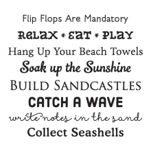 Beach House Rules Wall Quotes™ Decal great for any home
