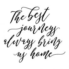 The best journeys always bring us home wall quotes decal vinyl family entry welcome back travel
