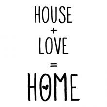 House + Love = Home wall quotes vinyl wall decal family farmhouse rustic vintage