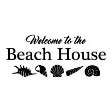Welcome To The Beach House seashells shells home vacation wall quotes vinyl decals decor