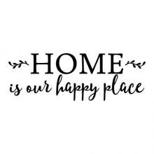 Home is our happy place wall quotes vinyl lettering wall decals house family happiness