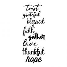 trust grateful blessed faith gather love thankful hope wall quotes vinyl lettering wall decal home decor