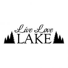 Live Laugh Lake wall quotes vinyl lettering wall decal home decor house tree nature cabin rustic