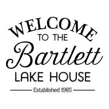 Welcome to the [Custom Name] Lake House / Established [Custom Date] wall quotes wall decal vinyl lettering home decor personalized family name cabin rustic vintage