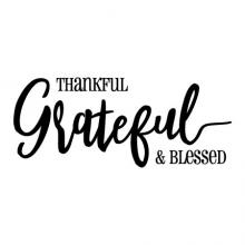 Thankful Grateful & Blessed wall quotes vinyl lettering wall decal home decor home welcome entry entryway faith