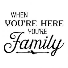 When you're here you're family wall quotes vinyl lettering wall decal home decor welcome entryway everyone is welcome here