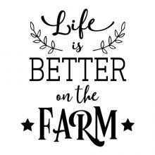 Life is better on the farm wall quotes vinyl lettering wall decal home decor vinyl stencil farmhouse farming cattle farmer