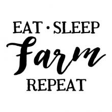 eat sleep farm repeat wall quotes vinyl lettering wall decal home decor farmhouse vintage