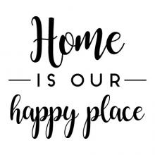 Home is our happy place wall quotes vinyl lettering wall decal home decor vinyl stencil stay home house