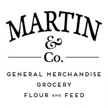 Martin & Co. General Merchandise Grocery Flour and Feed wall quotes vinyl lettering wall decal home decor vinyl stencil house home family name customized farmhouse
