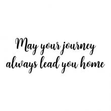 May your journey always lead you home wall quotes vinyl lettering wall decal home decor entry home house