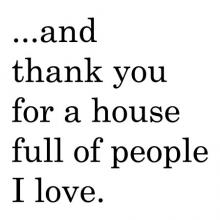 …and thank you for a house full of people I love wall quotes vinyl lettering wall decal home decor vinyl stencil home house pray thankful