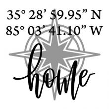 gps coordinates home with compass wall quotes vinyl lettering wall decal home decor vinyl stencil location home is where