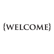 {welcome} wall quote decal