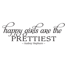 happy girls wall decal
