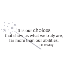 it is our choices wall decal
