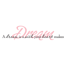 a dream is a wish wall decal