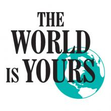 The World Is Yours Earth Silhouette Wall Quotes™ Decal mother nature recycle world go green travel motivation