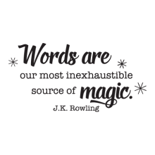Words Are Magic, inspirational great for any home Wall Quotes™ Decal
