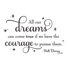 Dreams Take Courage Sparkles Wall Quotes™ Decal perfect for any home