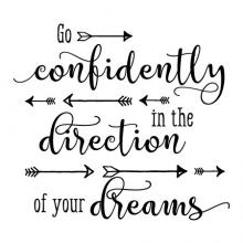 Go confidently in the direction of your dreams arrow arrows wall quotes decal vinyl confident inspiration