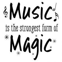 Music is the strongest form of magic radio band instrument g clef wall quotes vinyl decal piano