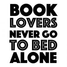 Book lovers never go to bed alone wall quotes vinyl lettering vinyl decals home decor read reading literature library funny