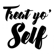 Treat Yo Self Wall Quotes™ Decal tv show parks and rec parks and recreation quote tom haverford wall quotes vinyl lettering wall decal fandom pnr