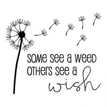 Some see a weed others see a wish {dandelion} wall quotes vinyl lettering wall decal flower inspirational inspiration