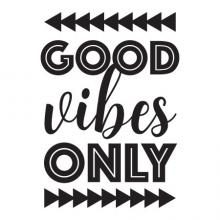 Good Vibes Only wall quotes vinyl lettering wall decal trendy arrows triangle script dorm