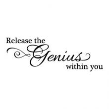 Release the genius within you wall quotes vinyl lettering wall decal home decor inspiration motivation