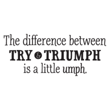 The difference between Try & Triumph is a little umph decal