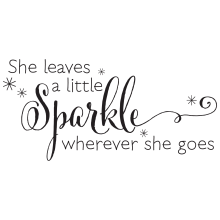 She Leaves A Sparkle Wherever She Goes