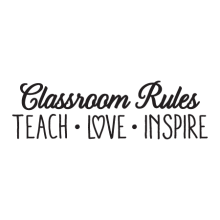Classroom Rules inspirational great for any classroom  Wall Quotes™ Decal