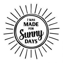 I was made for sunny days wall quotes vinyl lettering wall decal home decor sun bright spring summer