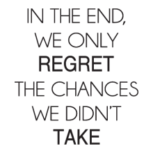 Wall Quotes™ Vinyl Decal Regret The Chances