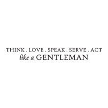 Do It Like A Gentleman inspirational great for any home Wall Quotes™ Decal